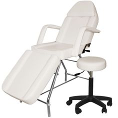 NEW ADJUSTABLE PORTABLE MEDICAL DENTAL CHAIR W/STOOL COMBINATION WHITE - Authorized dealer 100% feedback seller+1 year warranty #stool #combination #white #chair #dental #portable #medical #adjustable