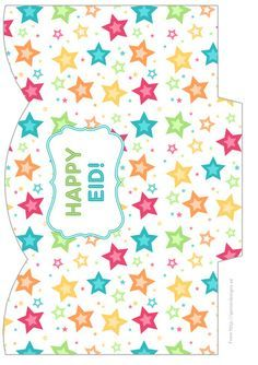 Free printable treat bags for Eid