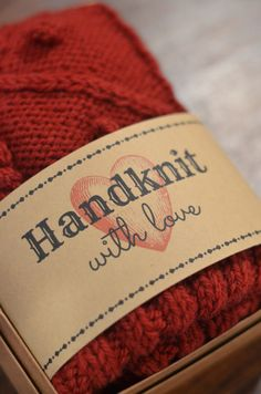 Handknit with Love gift tags by Cobberson + Co. wrap around your handmade items for a beautiful presentation!