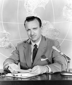 "Walter Cronkite, (November 4, 1916 – July 17, 2009) was an American broadcast journalist, best known as anchorman for the CBS Evening News for 19 years (1962–81). During the heyday of CBS News in the 1960s and 1970s, he was often cited as ""the most trusted man in America""...... It doesn't matter where you lived in the world everybody knew this mans face and, it seems to me, most everyone felt nothing but respect for him."