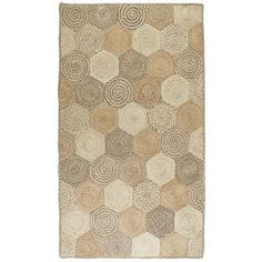 Egan Patch Jute Rug - 8x10 for dining room I'm thinking less pattern and more texture. We need to measure proper size (8x-0 or larger?) but here is an interesting contrast to a traditional jute