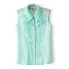 Womens Mint Green Saika Sleeveless Blouse