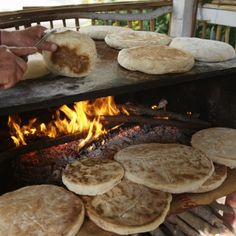 "Bolo do caco (bread) --- traditionaly served with ""garlic butter"", Madeira Island - Portugal"