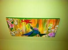 Hummingbird acrylic on canvas