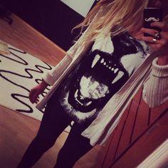 her shirt