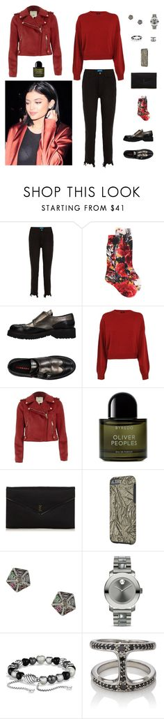 """Без названия #3165"" by gvarjusha ❤ liked on Polyvore featuring M.i.h Jeans, Prada, Prada Sport, Theory, River Island, Byredo, Yves Saint Laurent, Noor Fares, Movado and David Yurman"