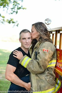 a grown up fairy fort with regina playing softly on portable speakers in the background Firefighter Engagement Pictures, Firefighter Wedding, Firefighter Love, Engagement Couple, Couple Photography, Engagement Photography, Firefighter Photography, Foto Fun, Wedding Pics