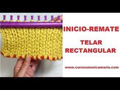 INICIO Y REMATE TELAR RECTANGULAR // Tutorial paso a paso