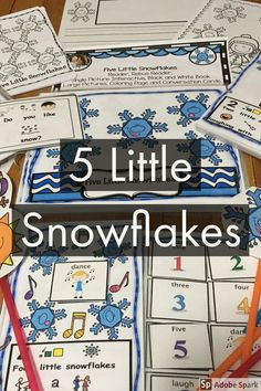 Looking for an easy fun poem for these snowy days? 5 Little Snowflakes Interactive and Differentiated Book.  This poem which includes an interactive book is a great one for Circle Time or to set up in a Reading Center. This has been differentiated so that a variety of students are able to use it. It includes a writing prompt, coloring page, pictures to playact the poem and conversation cards