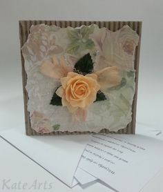 pale yellow rose  cards  https://www.facebook.com/katearts