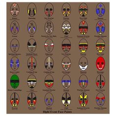 native american face paint meanings