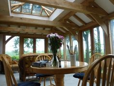Our clients had chosen a rustic oak style orangery with a tiled roof incorporating a small lantern and large windows and French doors to both sides. Pergola Canopy, Pergola With Roof, Cheap Pergola, Patio Roof, Pergola Plans, Diy Pergola, Pergola Kits, Roof Design, House Design