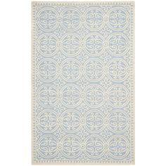 Filo Handmade Wool Rug in Light Blue
