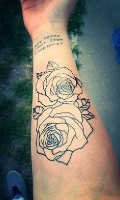 Cute big old school anchor with yelloe rose tattoo on forearm ...