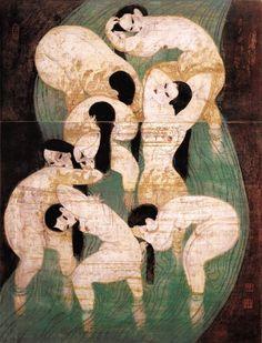 Zhiyuan Cong - Spring of Life, 1991 etching
