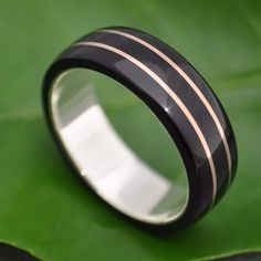 Rose Gold Wood Ring - Juntos - pink gold wood wedding ring or engagement ring Wooden Rings Craft, Wood Rings, Rose Gold Pink, Gold Wood, Pink Ring, Or Rose, Wedding Rings, Gold Wedding, Wedding Stuff