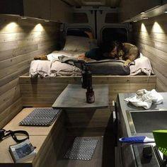 Coolest Design ProMaster Camper Van Conversion https://www.vanchitecture.com/2018/03/10/coolest-design-promaster-camper-van-conversion/