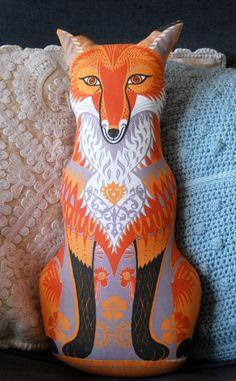 Felix the Fox Tea Towel / Cloth Kit  A silkscreen by sarahyoung5,