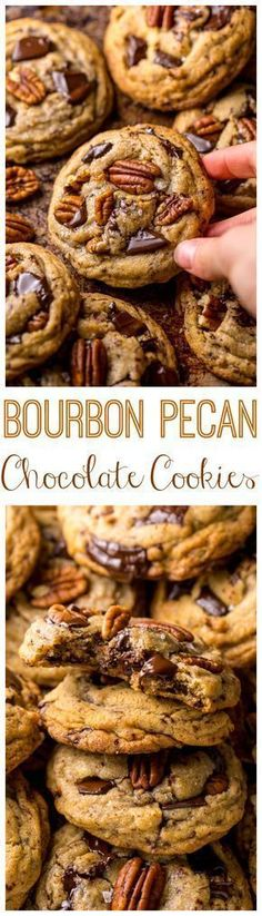 These Brown Butter Bourbon Pecan Chocolate Chunk Cookies are crunchy, chewy, and SO flavorful! You have to try these! #BrownButter #ChocolateChip #PecanCookies #ComfortFood