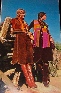 the1970sfashion:    Western style  Seventeen magazine-August 1970