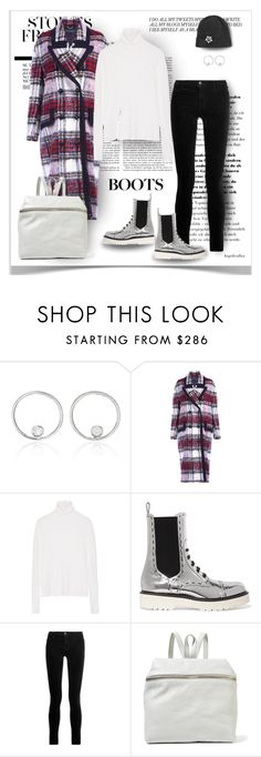 """""""Metallic boots"""" by angelicallxx ❤ liked on Polyvore featuring AS29, Burberry, The Elder Statesman, Dolce&Gabbana, J Brand, Kara, Lanvin and chelseaboots"""