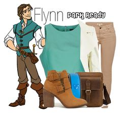 """""""Flynn Rider~ DisneyBound"""" by basic-disney ❤ liked on Polyvore featuring Barbour, TIBI, Disney and Steve Madden"""