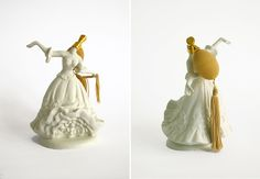 "Lady Perfume Bottles, from the ""Blow Me"" collection by Rebecca Wilson."