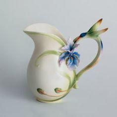 Franz porcelain hummingbird pitcher