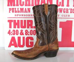 Vintage Cowboy Boots Classics circa 1975 Rodeo by thankyoulucky, $50.00