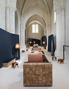Historic priory transformed into a modern hotel and restaurant. Agence Jouin Manku transforms Saint-Lazare priory into modern hotel and restaurant Restaurant Design, Hotel Restaurant, Restaurant France, Hotel France, Architecture Design, Haunted Hotel, The Design Files, Hotel Interiors, Interior Design