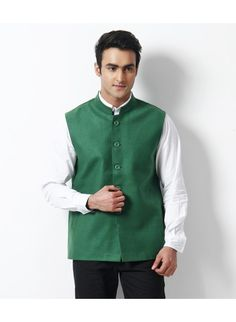 Hackerz #Mens #Green #Nehru #Jacket