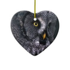 #Great #Grey #Owl #Christmas #Tree #Ornament