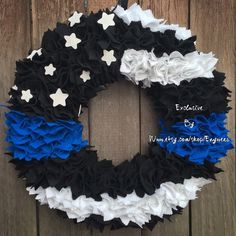 A personal favorite from my Etsy shop https://www.etsy.com/listing/466797117/medium-police-thin-blue-line-law