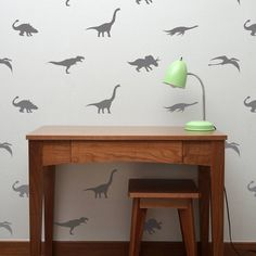 Contemporary Mini Dinosaur Wall Stickers