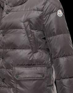 Moncler SERRE Damen Mantel Für Sie Granitgrau Polyamid 41456720GV