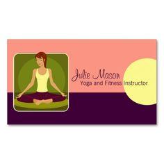 Yoga pilates meditation businessinstructor business card yoga instructor business cards colourmoves
