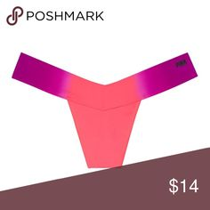 e66ddca93d5d9 VS PINK Cool   Comfy Seamless Thong Panty NWT. Victoria s Secret PINK Cool    comfy seamless thong panty. Size- SMALL. Color- Neon Coral Dip Dye.