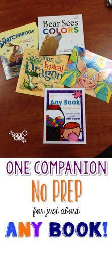 $ One, no prep book companion that can be paired with just about ANY BOOK! Less prep means less stress and more fun!!