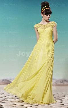 £193.00 Brighted Lace A-line Jewel Floor-length Dress