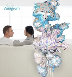 Baby Its Cold outside!  Stay In and Cuddle up!  Bring the sparkle of winter indoors while staying warm & toasty!  #AnagramBalloons Snowflake balloons some are holographic too!