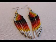 como hacer aros macramé triangulares [ earrings macramé triangular - YouTube