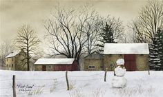 First Snow by Billy Jacobs 10x6 in. Art Print