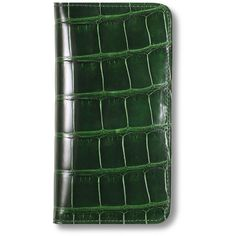 Asprey Iphone 6 Case Crocodile Emerald ($2,305) ❤ liked on Polyvore featuring accessories and tech accessories