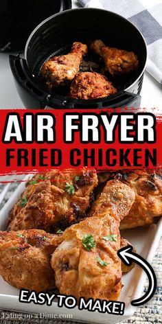 Air Fryer Fried Chicken, Making Fried Chicken, Chicken Drumstick Recipes, Fried Chicken Recipes, Simple Fried Chicken Recipe, Easy Baked Beans, Coleslaw Recipe Easy, Air Fryer Recipes Easy, Easy Recipes