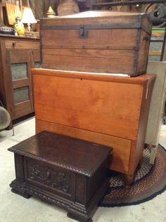 Antique Store Boxes at Harris Hall of Antiques
