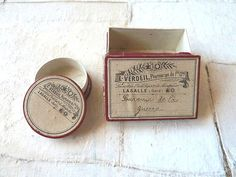 Vintage French box Cardboard box Pills box