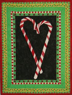 A paper pieced candy cane quilt by Sondra Mojoquiltdesigns for Christmas '08. The Peppermint Twists pattern was designed by Stephen Seifert and Liz Schwartz of quiltswithstyle.com. Posted on pinterest: https://www.pinterest.com/mojoquiltdesign/quilts/