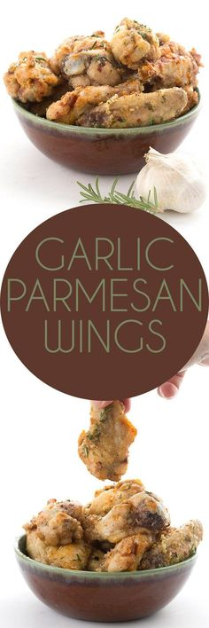 Simply the best keto garlic parmesan wings recipe. Crispy oven baked wings in a buttery garlic parmesan sauce. The best low carb wings you'll ever eat! via (Best Ketogenic Recipes) Keto Foods, Paleo Keto Recipes, Low Carb Chicken Recipes, Ketogenic Recipes, New Recipes, Recipe Chicken, Keto Chicken Wings, Party Recipes, Parmesan Wings Recipe