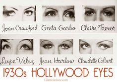 1930s Hollywood Eyes! - Makeup Tips., 2010, http://eye-makeup-tips.us/diy-eye-makeup/tips-in-using-eye-makeup-and-eyeshadow/