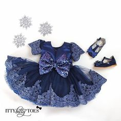 NAVY OBSESSED Princess Julia Dress & Zara Shoes  ONLY AT ittybittytoes.com  Click the link in our profile for details